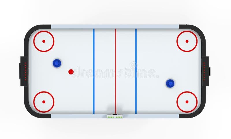 Tabella dell'hockey dell'aria isolata illustrazione vettoriale