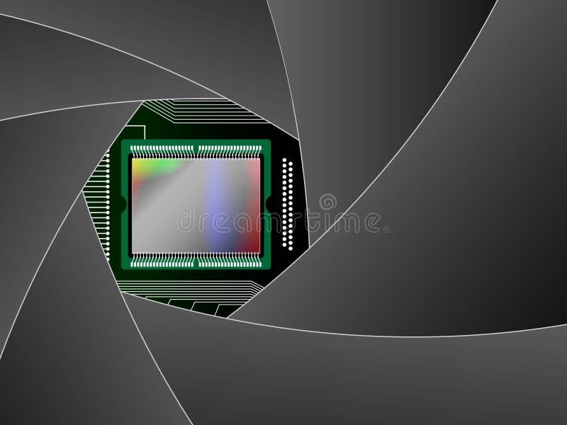 Tabella della macchina fotografica digitale illustrazione di stock