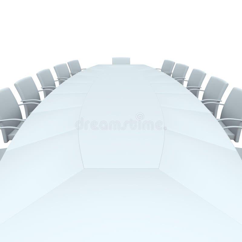 Tabella della sala del consiglio illustrazione vettoriale