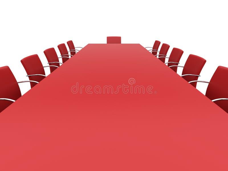 Tabella della sala del consiglio royalty illustrazione gratis
