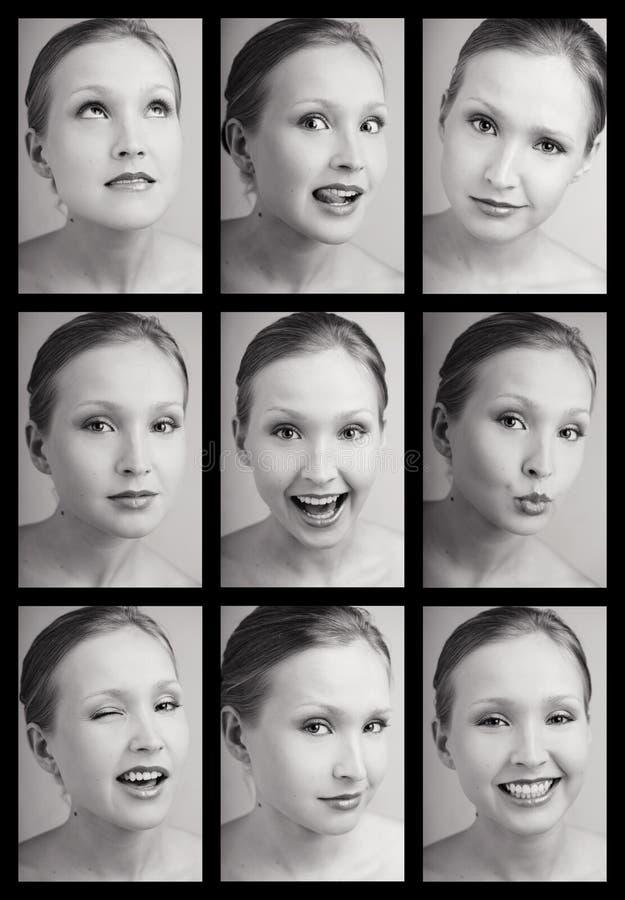 Tabella delle emozioni fotografia stock