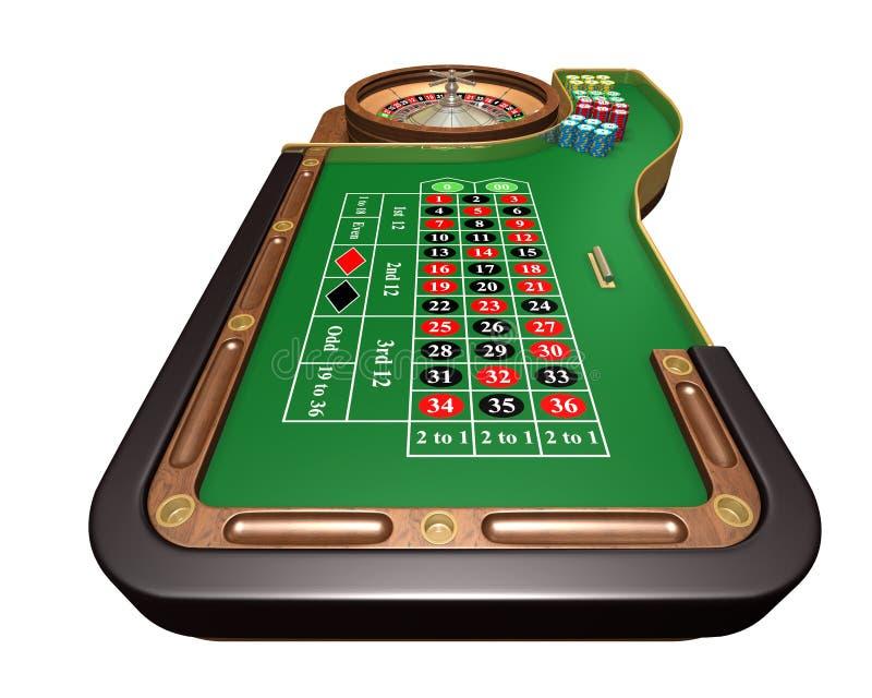 Tabella delle roulette royalty illustrazione gratis