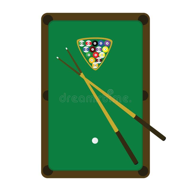 Tabella dello snooker (raggruppamento) royalty illustrazione gratis