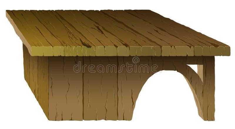 Tabella di legno illustrazione di stock