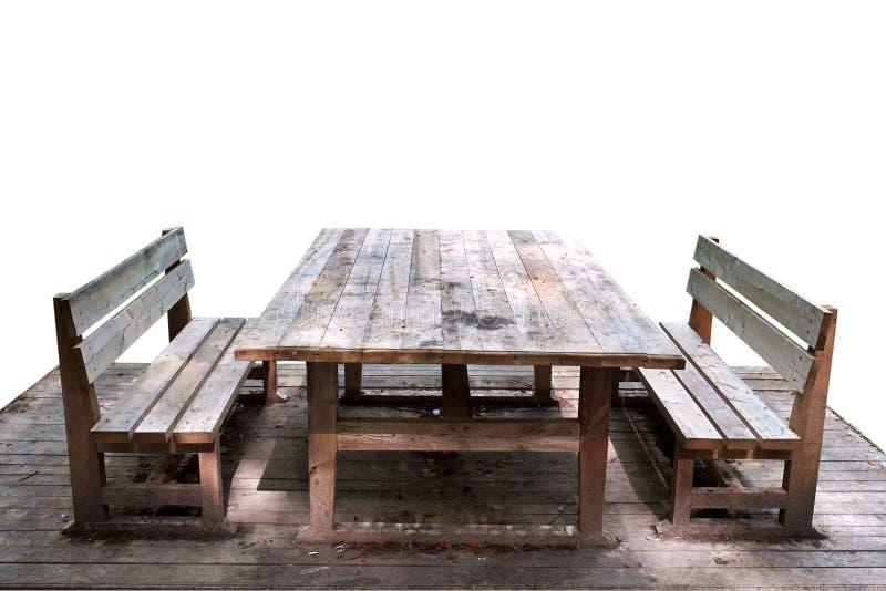 Tabella di legno immagini stock