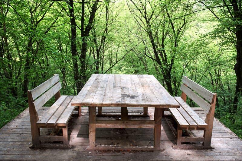 Tabella di legno fotografia stock