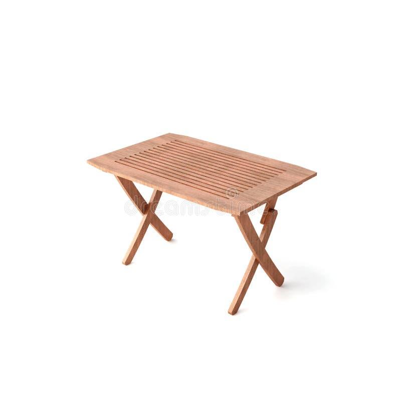 TABELLA di legno isolata illustrazione vettoriale