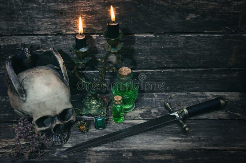 Tabella di magia fotografie stock