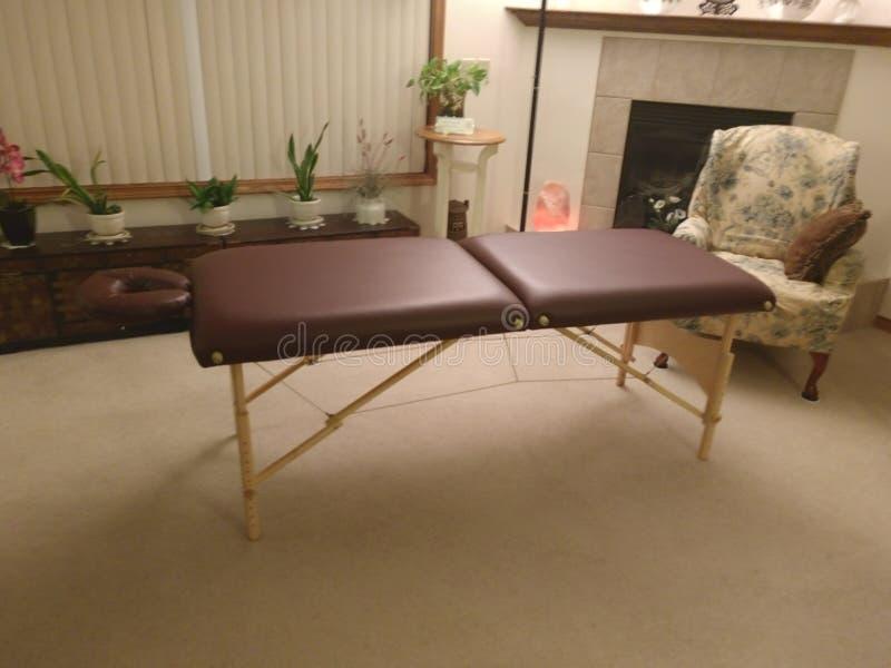 Tabella di massaggio fotografia stock