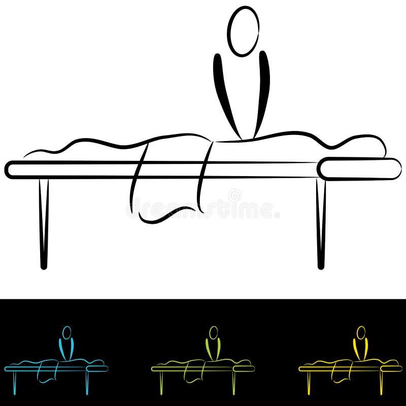 Tabella di massaggio illustrazione vettoriale