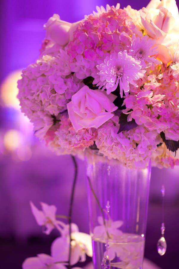 Tabella di nozze immagini stock