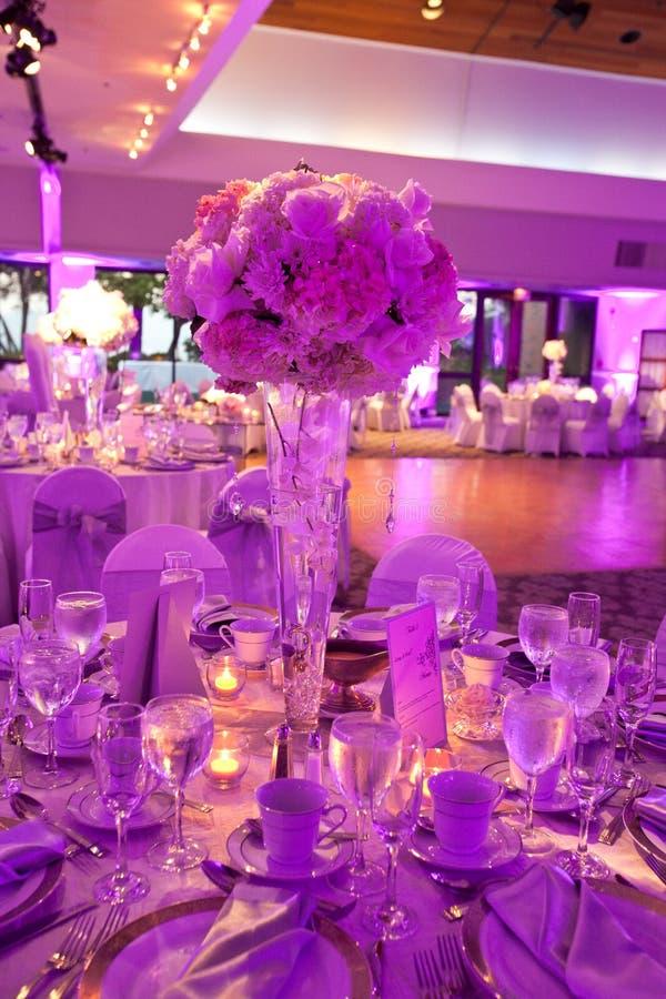 Tabella di nozze fotografia stock libera da diritti