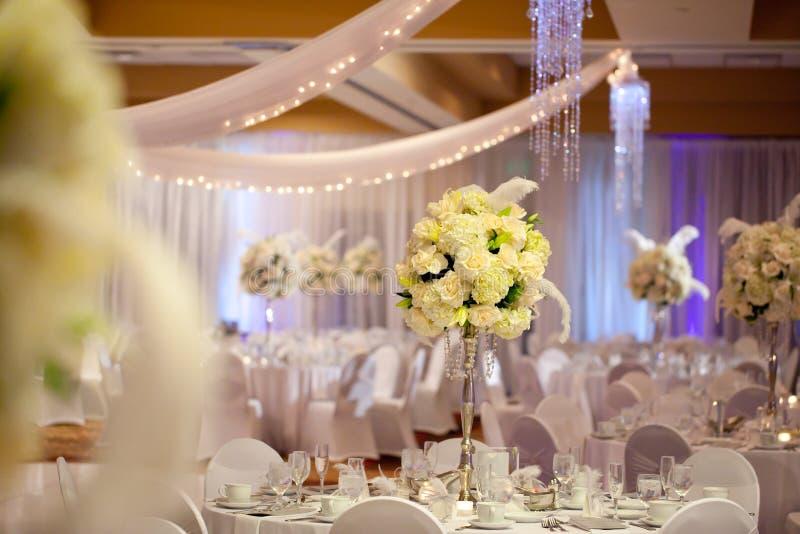 Tabella di nozze immagini stock libere da diritti