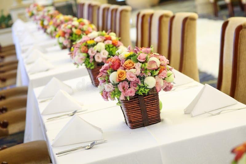 Tabella di nozze fotografie stock libere da diritti