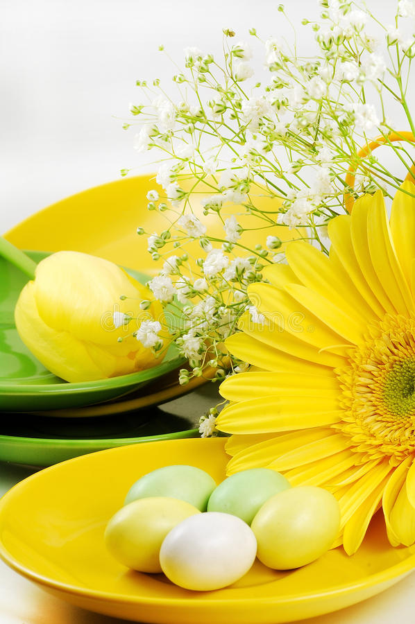 Tabella di Pasqua fotografia stock