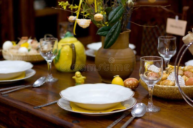 Tabella di Pasqua fotografie stock libere da diritti