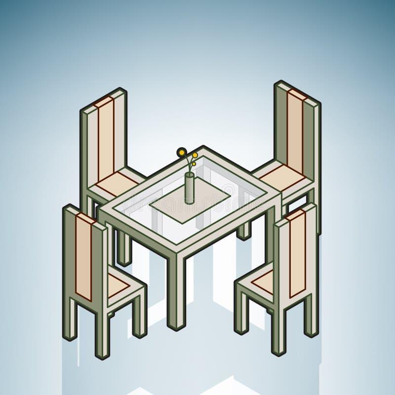 Tabella di pranzo illustrazione di stock