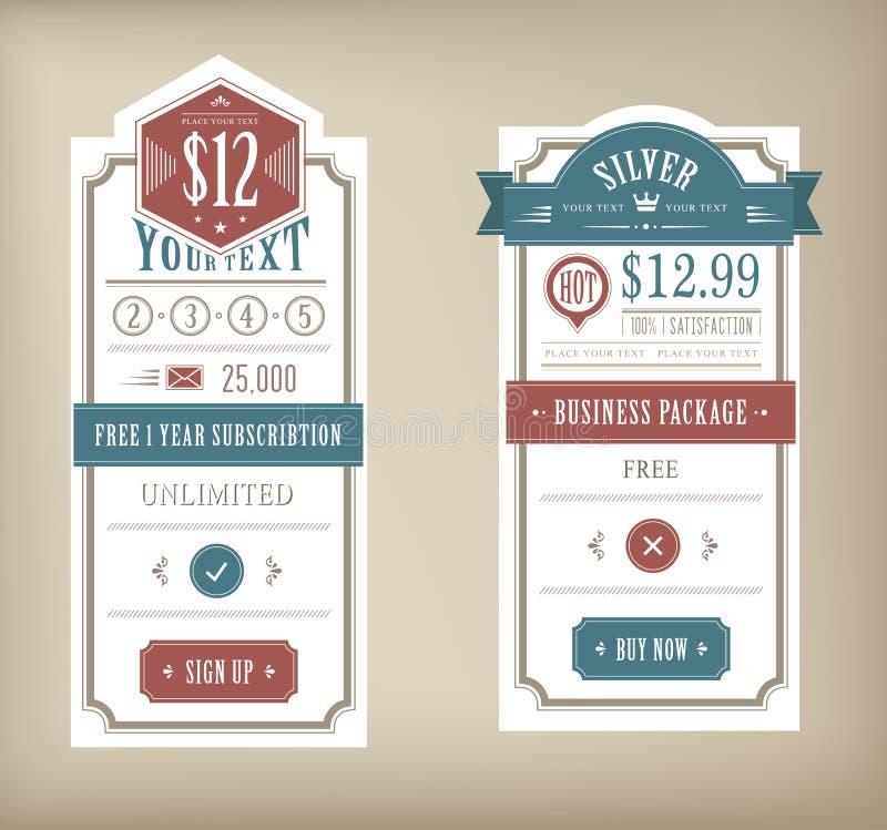 Tabella di prezzi illustrazione di stock