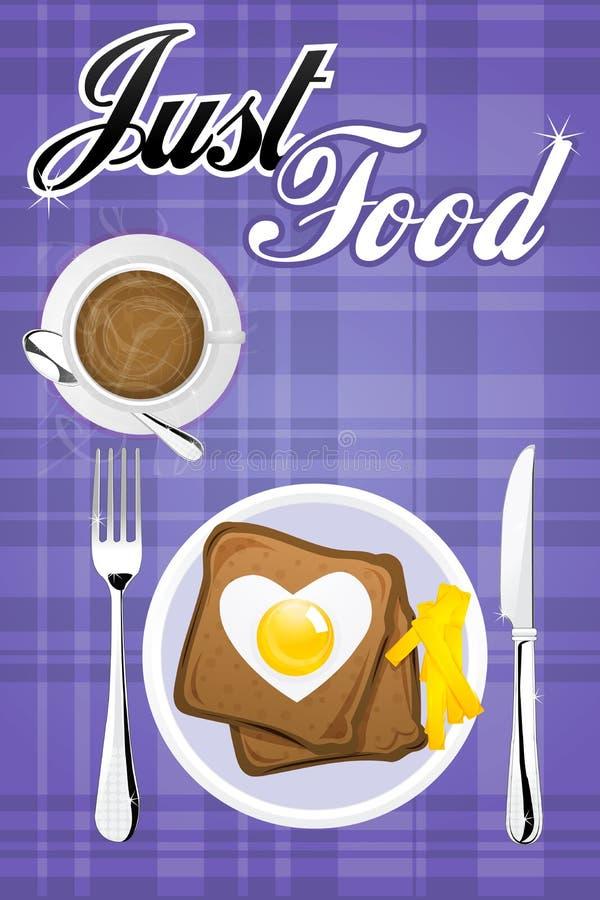 Tabella di prima colazione illustrazione di stock