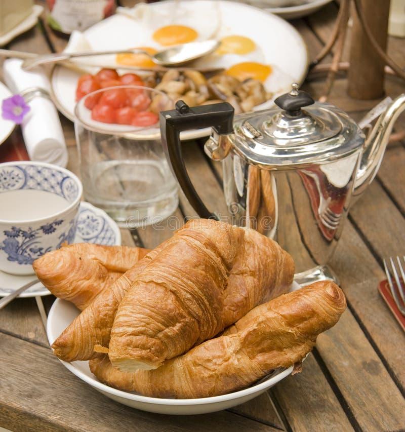 Tabella di prima colazione immagini stock libere da diritti