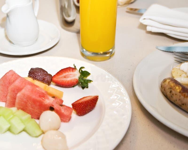 Tabella di prima colazione immagine stock libera da diritti