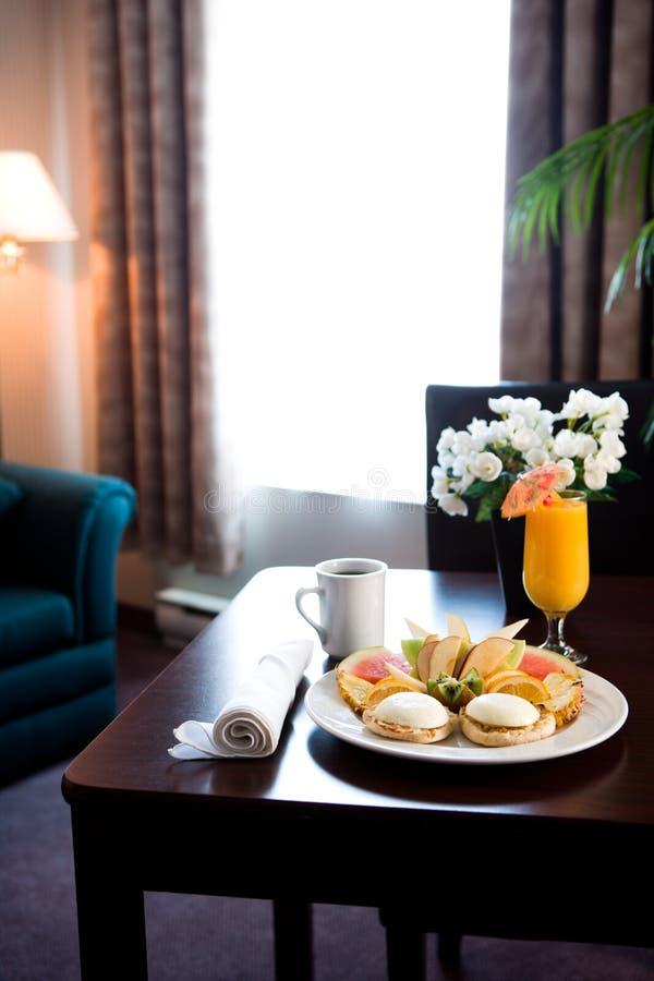 Tabella di prima colazione all'hotel fotografia stock