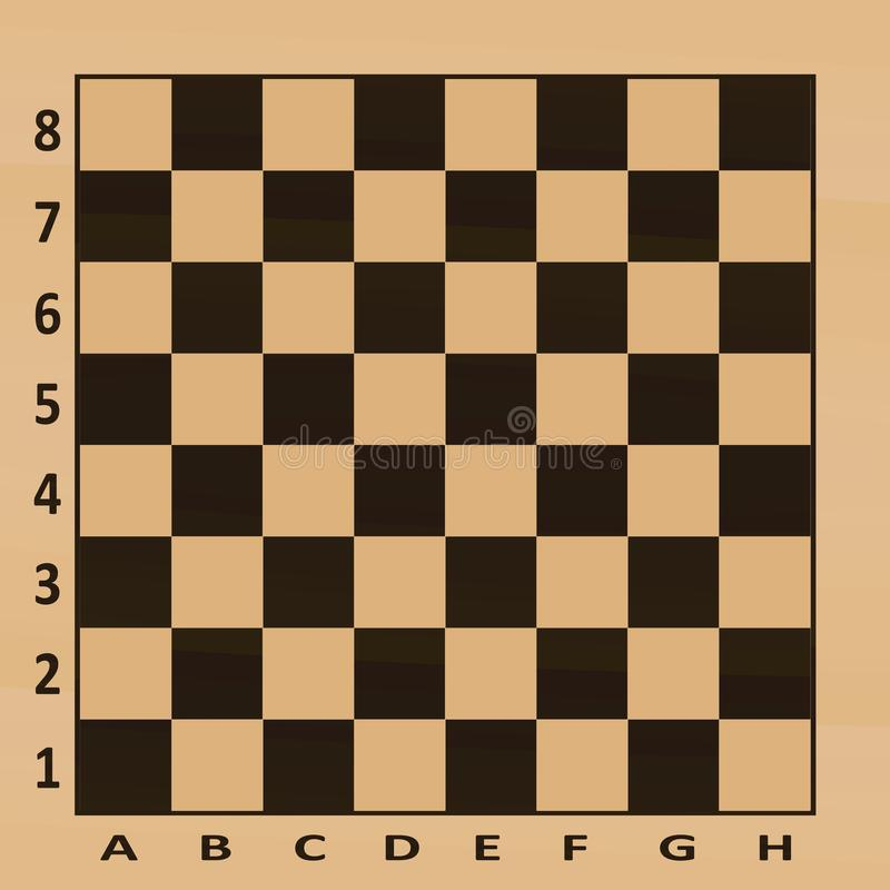 Tabella di scacchi Vista superiore illustrazione di stock
