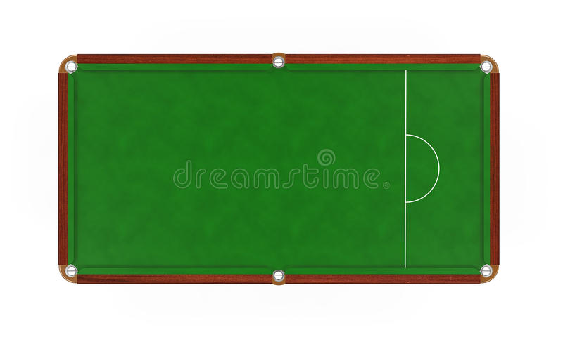 Tabella di snooker isolata illustrazione vettoriale