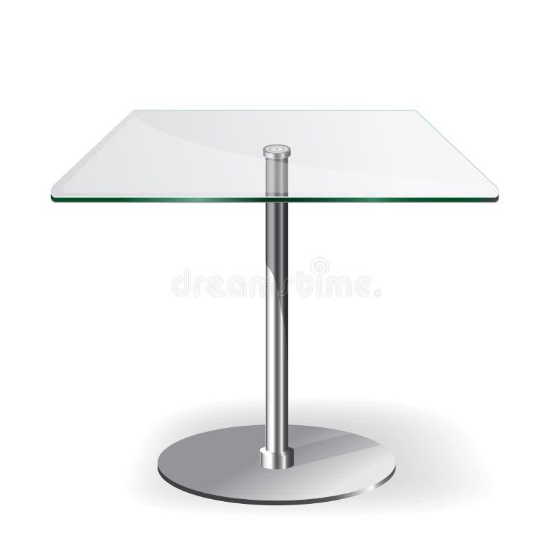 Tabella di vetro moderna illustrazione vettoriale