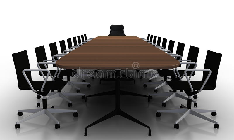 Tabella e presidenze della sala del consiglio illustrazione vettoriale