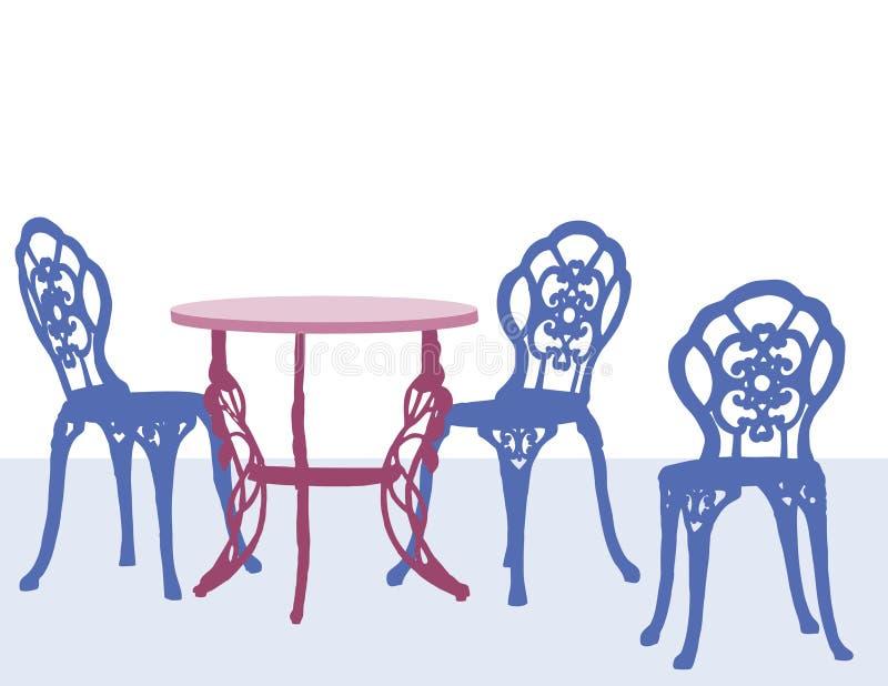 Tabella e sedie royalty illustrazione gratis