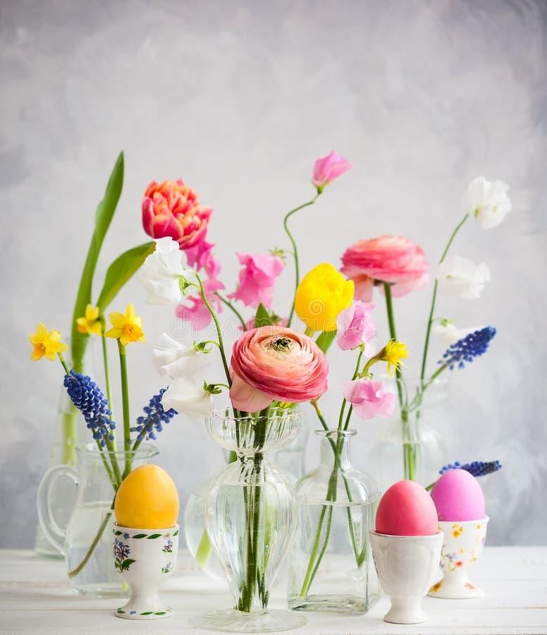 Tabella festiva di Pasqua immagine stock
