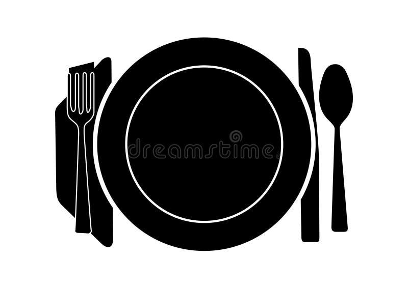 Tabella pranzante royalty illustrazione gratis