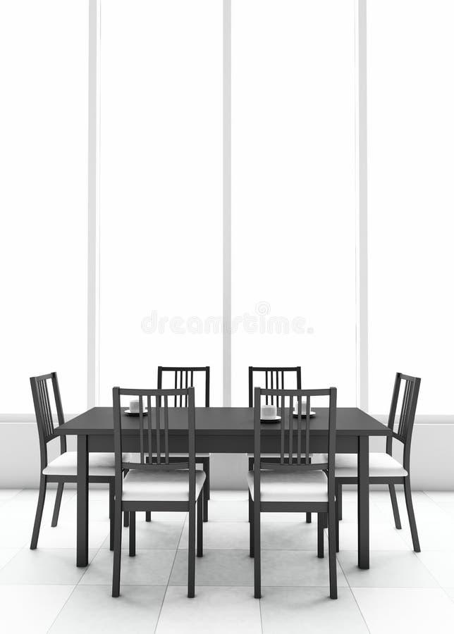 tabella pranzante 3d illustrazione di stock
