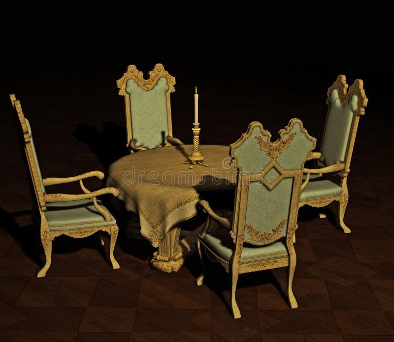Tabella pranzante antica illustrazione vettoriale