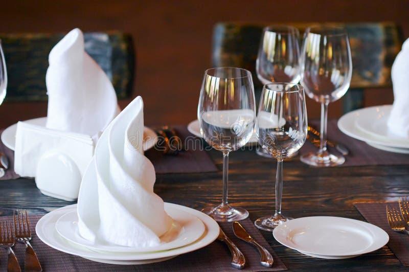 Tabella in ristorante fotografia stock