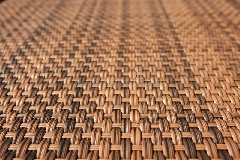 Tabella tessuta legno fotografie stock