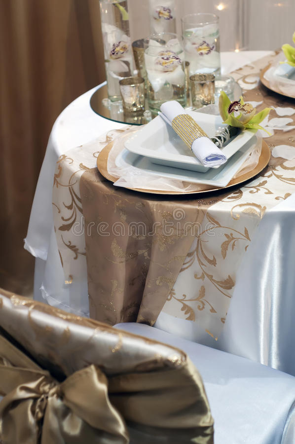 Tabella wedding decorata fotografia stock