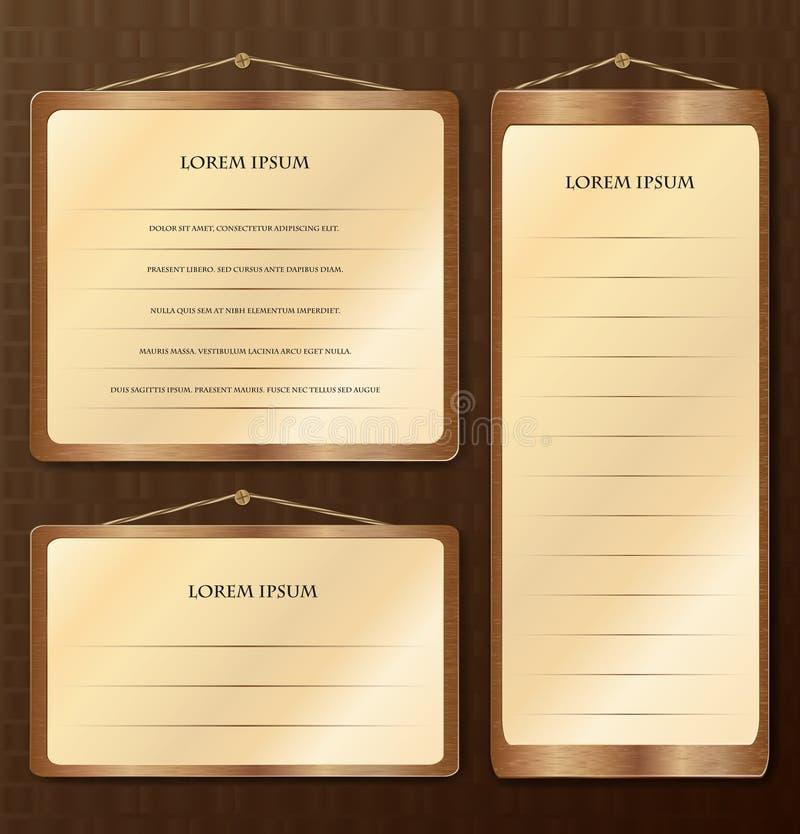 Tabelle di legno royalty illustrazione gratis