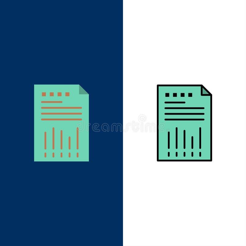 Tabelle, Geschäft, Daten, finanziell, Diagramm, Papier, Berichts-Ikonen Ebene und Linie gefüllte Ikone stellten Vektor-blauen Hin stock abbildung