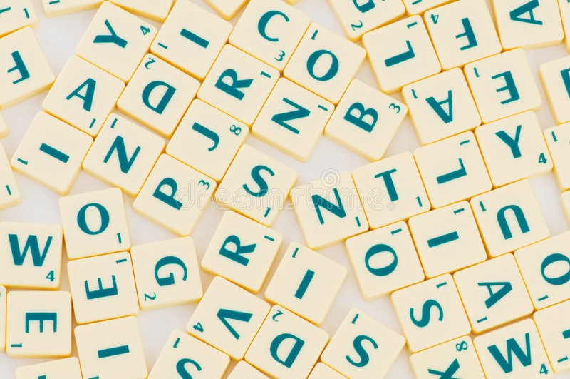 Tabelle mit vielen englisches Zeichen stockbilder