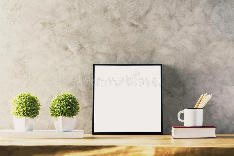 Tabelle mit weißem Rahmen stockbilder