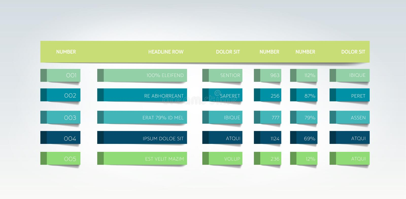 Tabelle, Zeitplan, Vorsprung, Planer, infographic Designschablone vektor abbildung