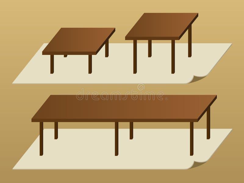Tabellen vektor abbildung