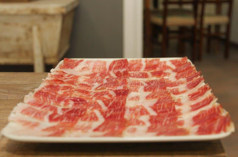 Tabellen av den Iberian lusten royaltyfri foto