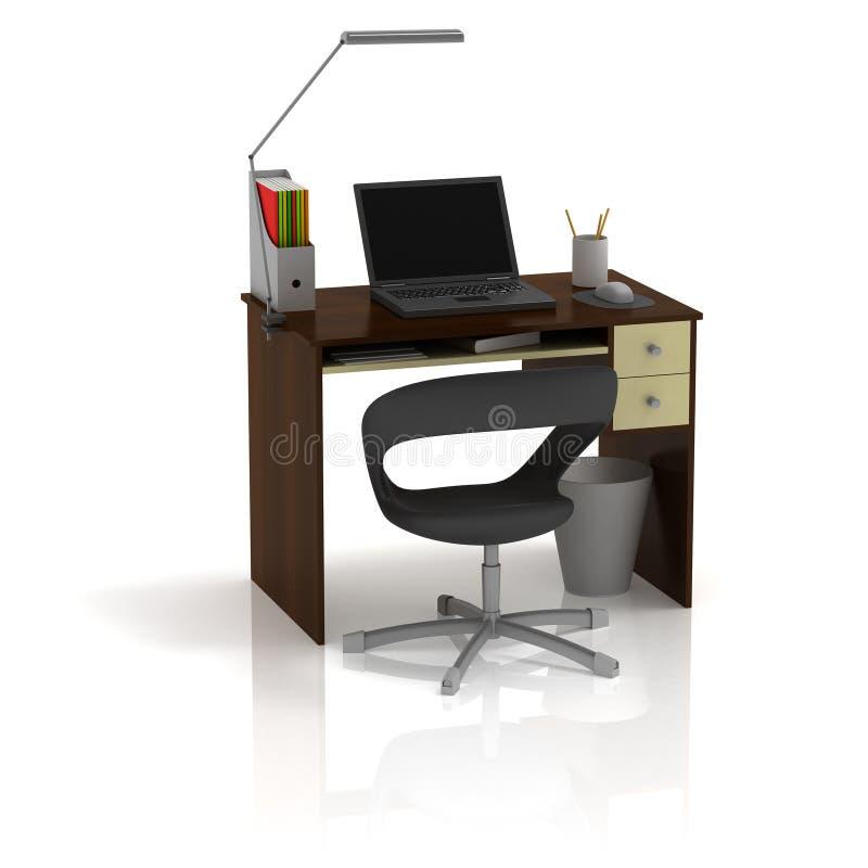 Tabellen-Büro stock abbildung