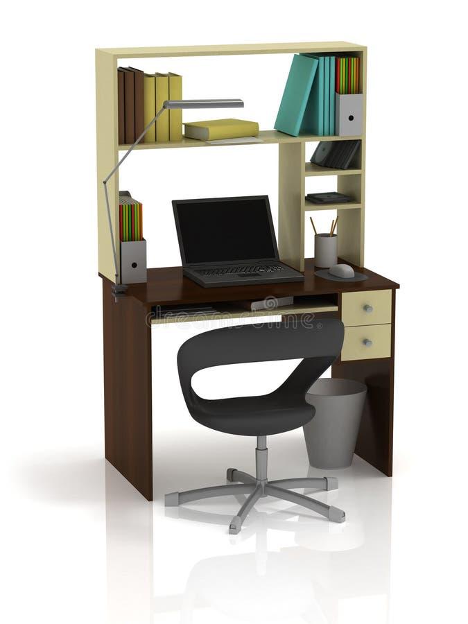 Tabellen-Büro lizenzfreie abbildung