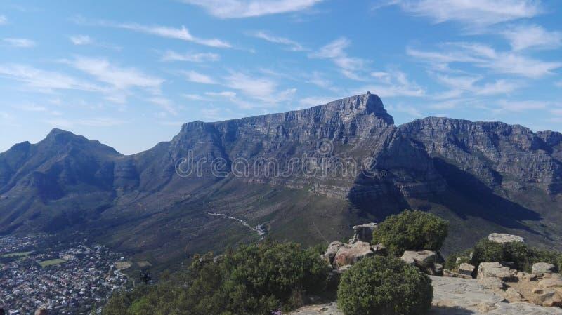 Tabellen-Berg, Kapstadt, Südafrika lizenzfreies stockfoto