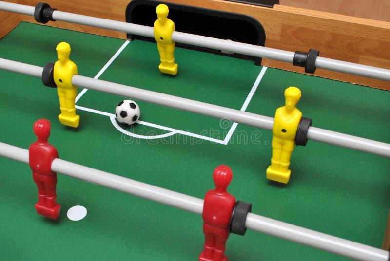 Tabellen-Fußballspiel lizenzfreies stockbild
