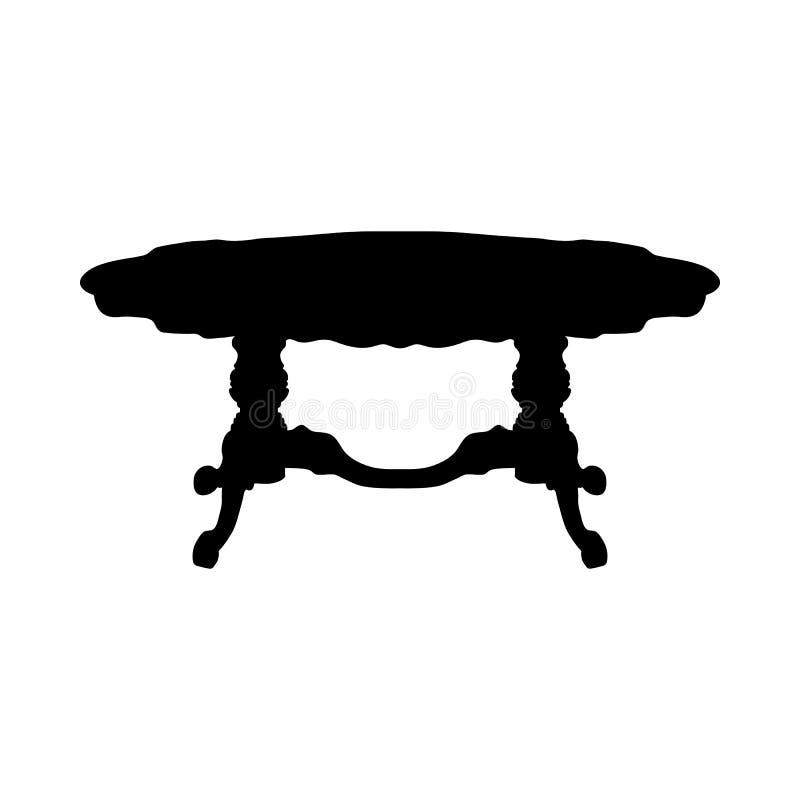 Tabellen-Schattenbild vektor abbildung